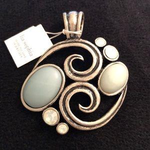 Lia Sophia Tidal Wave necklace pendent